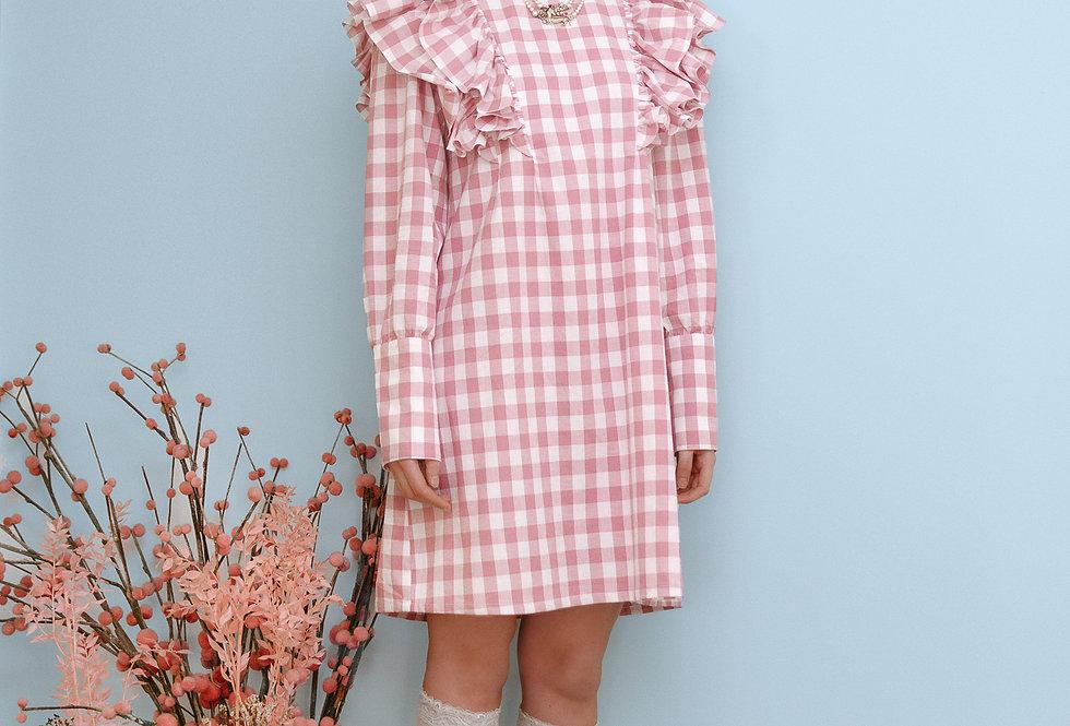 Vestido rosa vichy