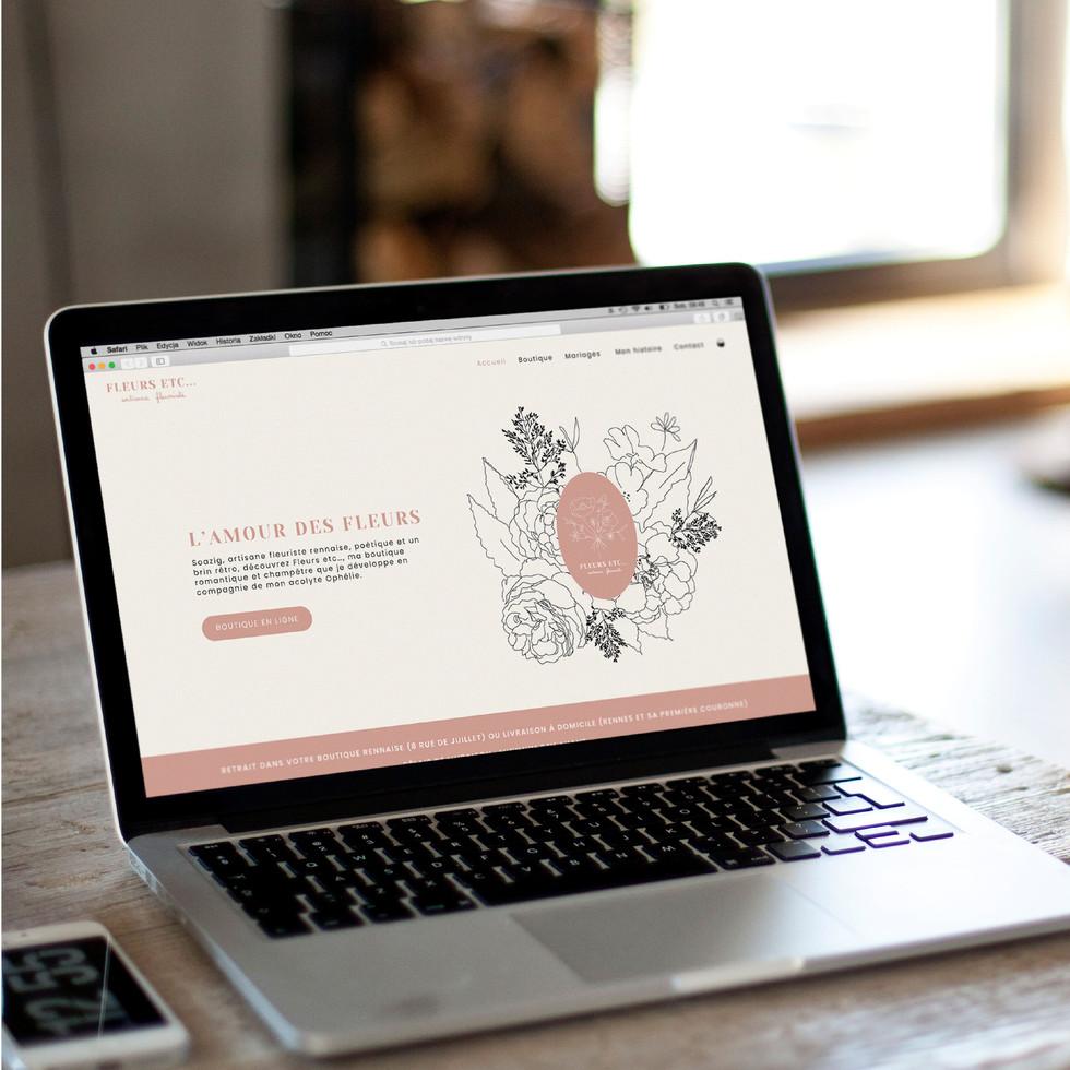 site internet fleurs etc