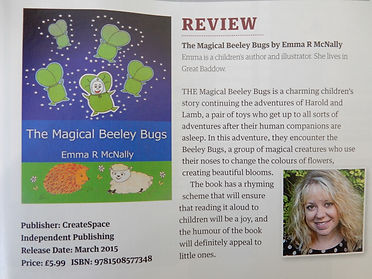 Book Review - Essex Life Magazing, Emma R McNally's The Magical Beeley Bugs