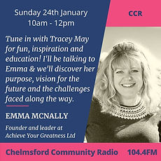 Emma McNally speaks on CCR radio