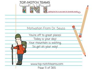 Motivation from Dr. Seuss...