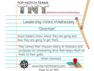 Leadership Word Wednesday - Leadership