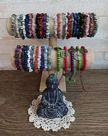 bracelets minéraux pierre et bois