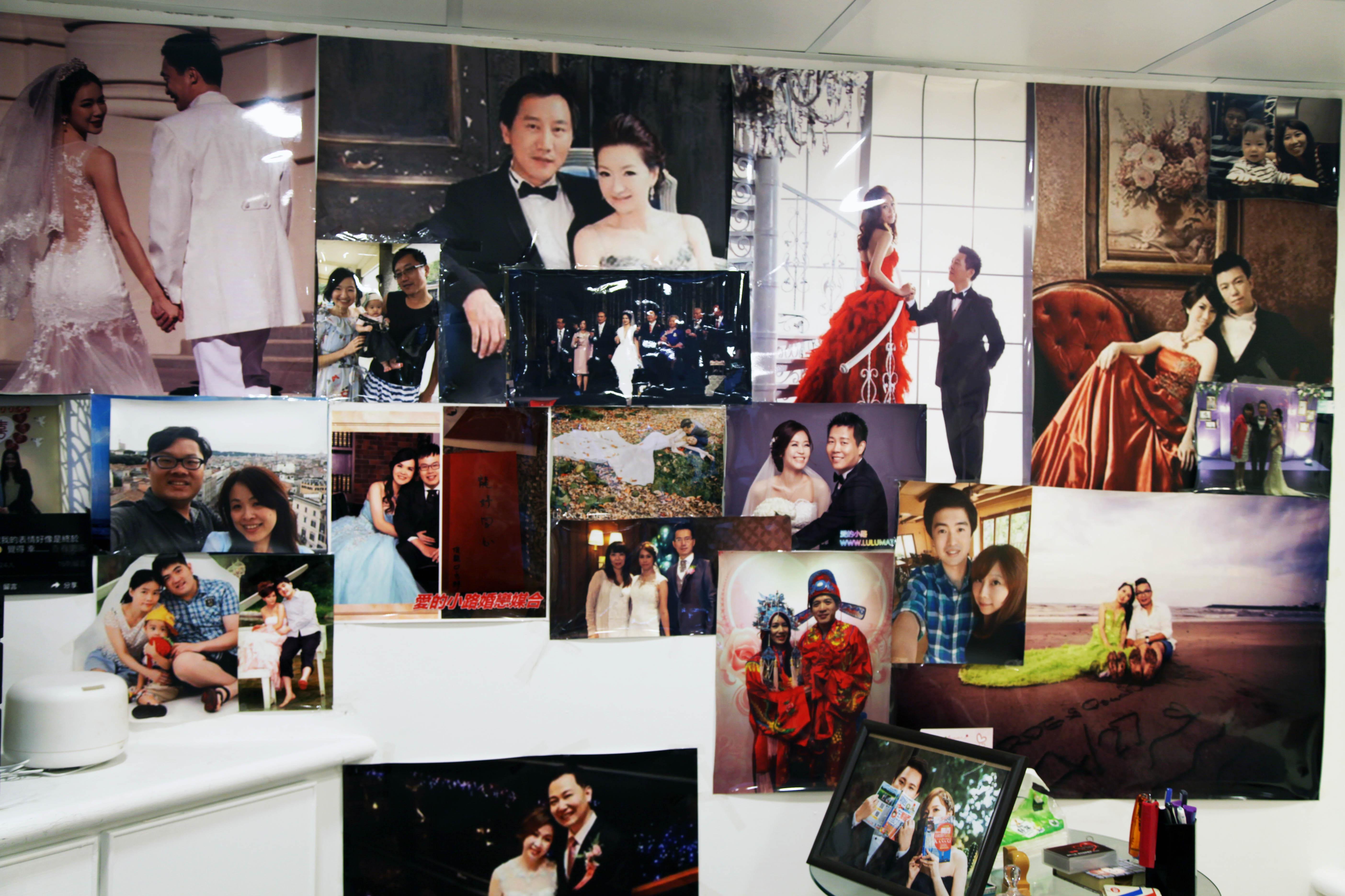 婚友社相片牆