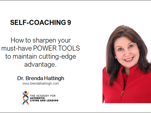 Self-coaching 9. How to sharpen your must-have POWER TOOLS to maintain advantage