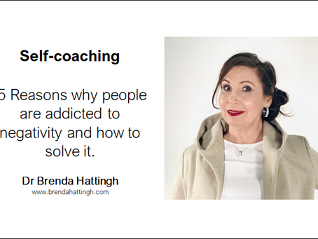 Self-coaching. 5 Reasons people are addicted to negativity & how to solve it