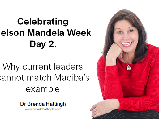 Nelson Mandela week. day 2. Why current leaders cannot match Madiba's example