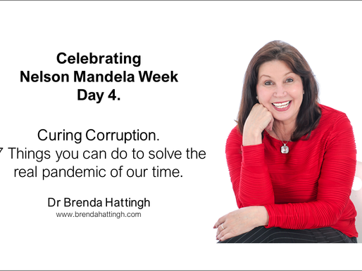 Day 4. Nelson Mandela week. Curing Corruption. 7 Things you can do to solve the pandemic