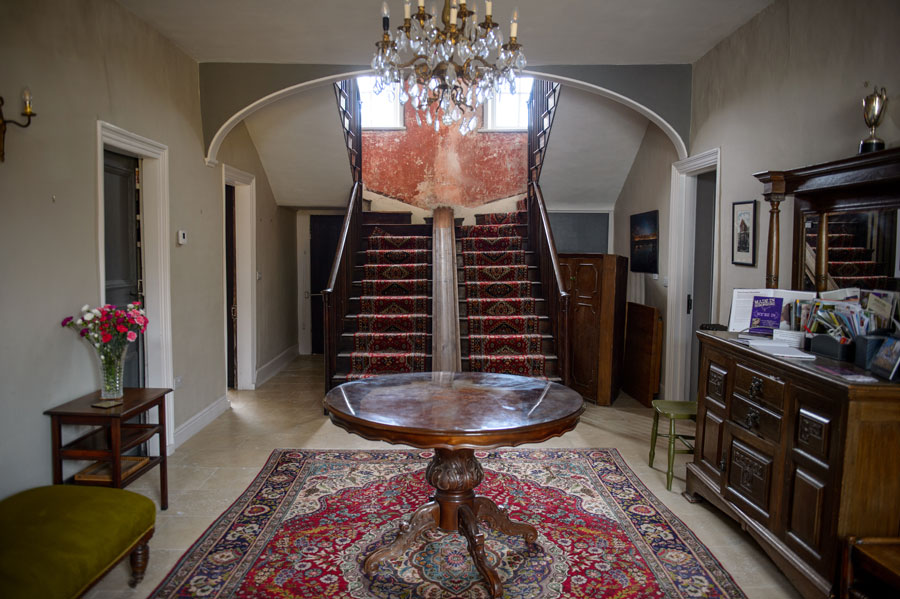 The unique double staircase
