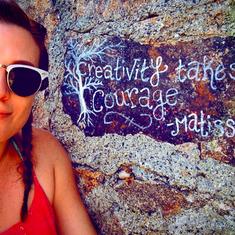 Alli Blotter Matisse Quote Rhode Island.