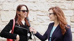 Brand Journalist, Alli Blotter, interviews filmmakers at Austin Film Festival