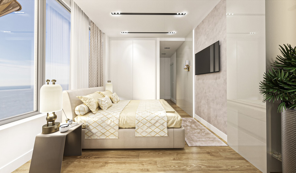 Guest bedroom cgi
