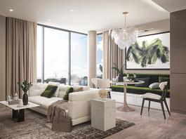 Living room 3D render