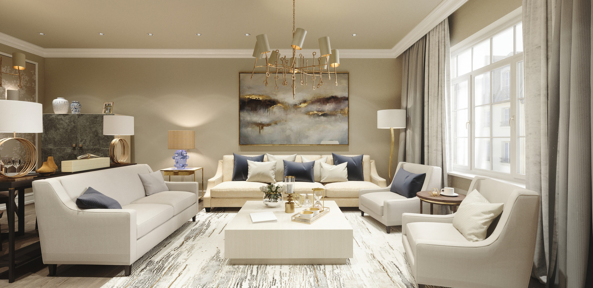 Living room design 3d