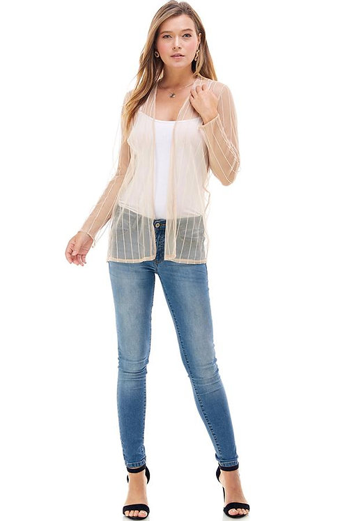 Striped Patterned Cardigan