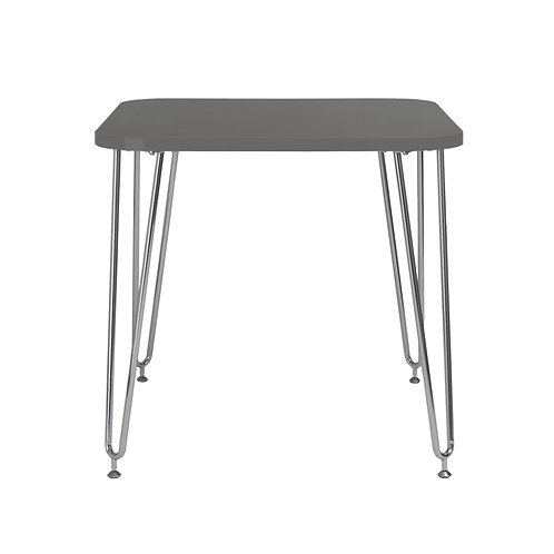 "31.5"" X 31.5"" X 30"" Gray Melamine over Particle Board Activity Table"