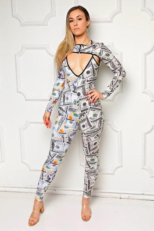 Money Print Jumpsuit