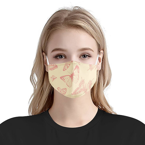 Butterfly Garden | 100% Soft Pima Cotton Triple Layer Face Mask