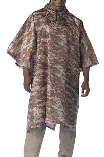 G.I. Type Military Rip-Stop Poncho - DESERT DIGITAL