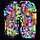 Thumbnail: Colorful Geometric Blast Adult Flip Flops
