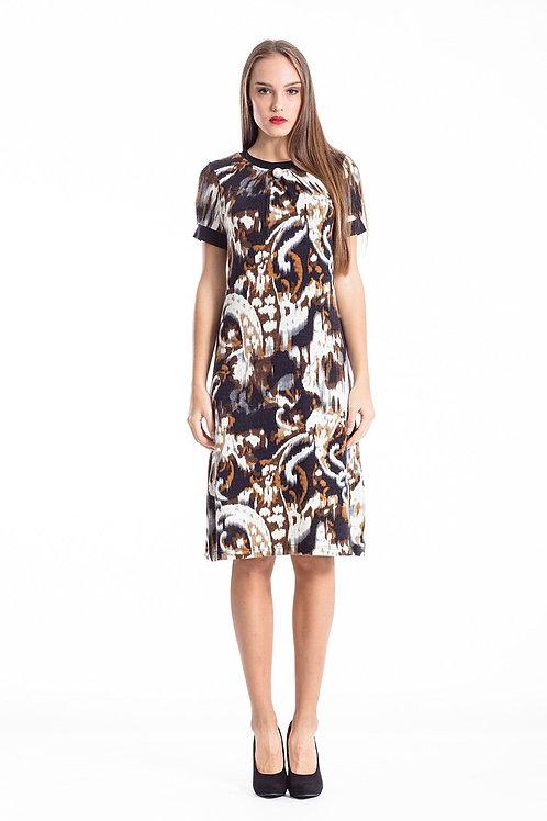 Allover Print a Line Dress