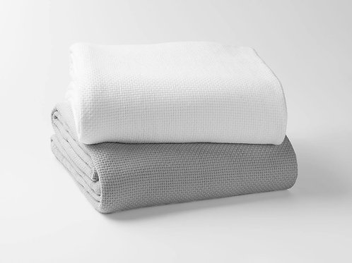 100% Organic Cotton Basket Weave Blanket