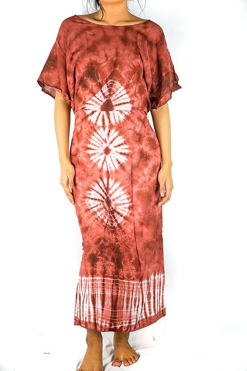 Tie Dye Maxi Dress, Boho Kaftan, Hippie Dress