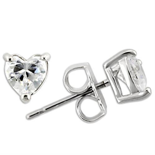 0W165 Rhodium 925 Sterling Silver Earrings with
