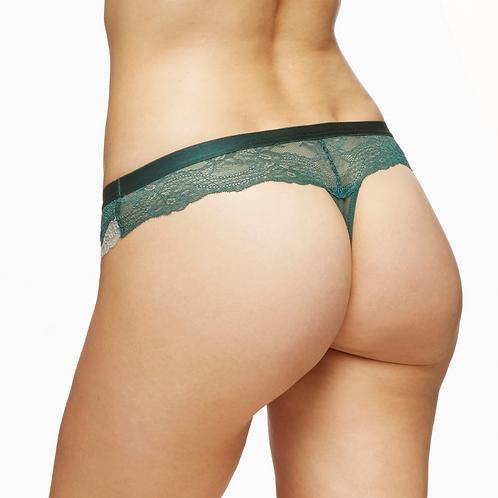 Brazilian Lace Thong Panty Blush Coco