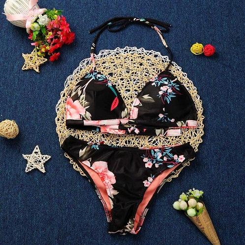 Popular Sexy Women Push-up Padded Bra Bikini Set