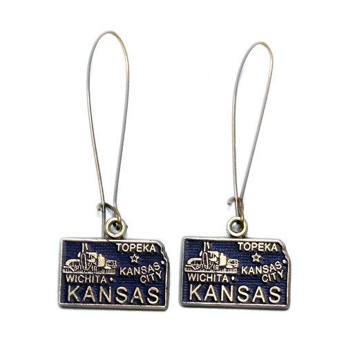 Kansas State Earring