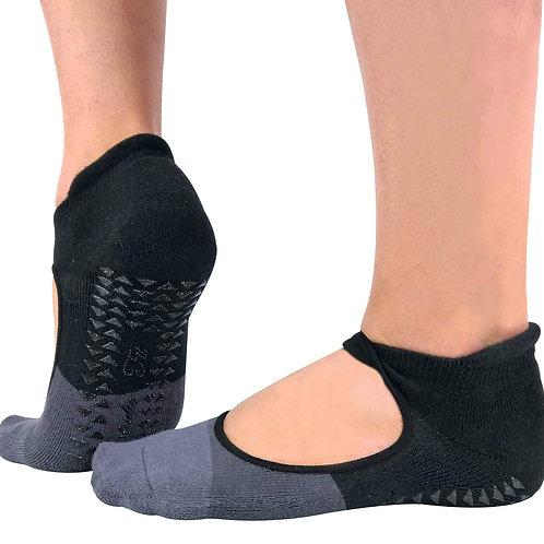 2 Pairs Ladies Non Slip Yoga Socks with Bunny Heel