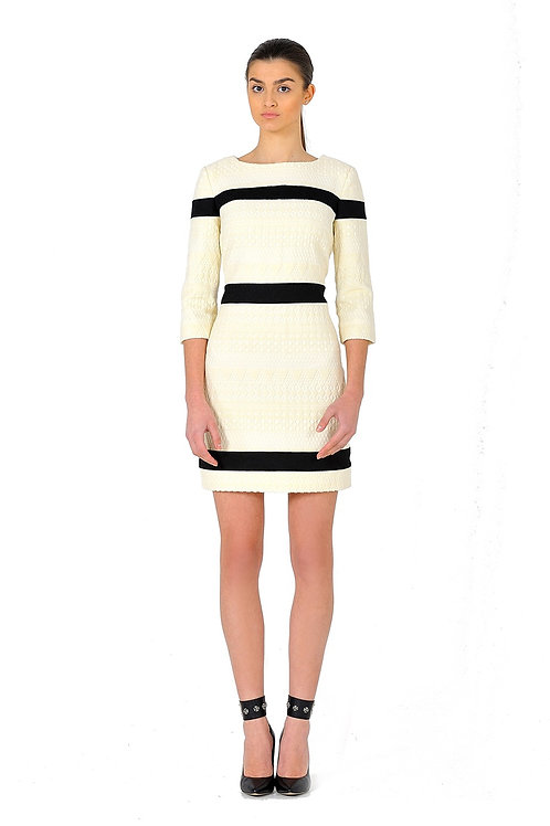 Short Dress Made of French Jacquard
