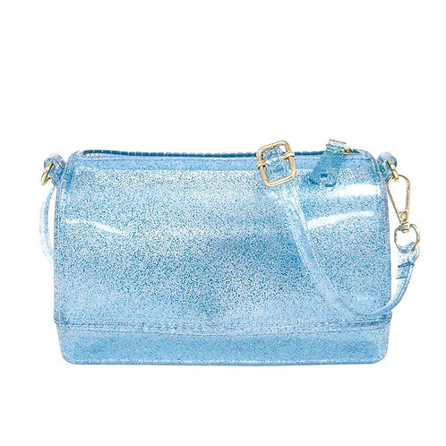 Blue Glitter Jelly Handbag