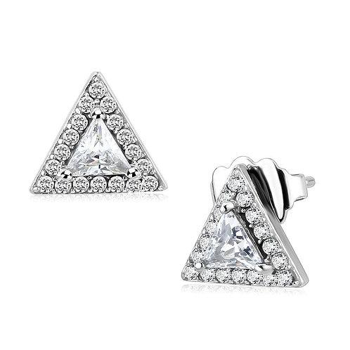 Women Stainless Steel Cubic Zirconia Earrings