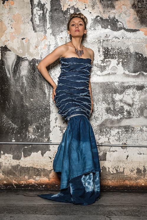 Denim Strip Dress