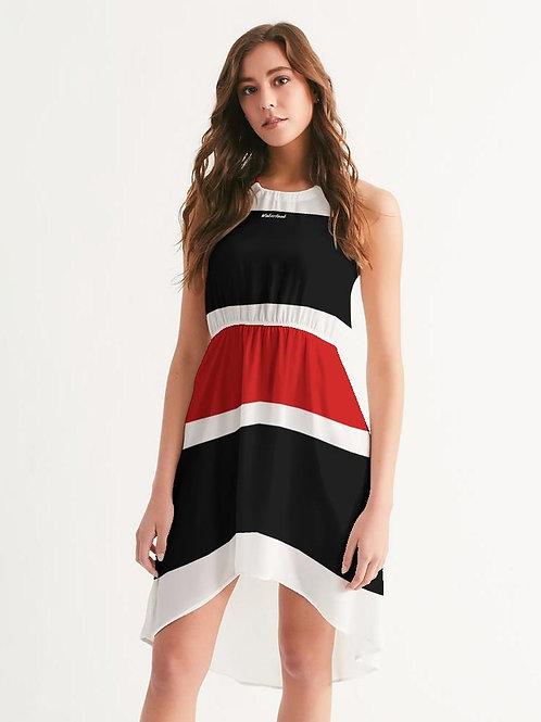 Wakerlook Women's High-Low Halter Dress