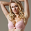 Thumbnail: Lace Deep Plunge Push-up Bra Lavinia Dare Me Powder Pink