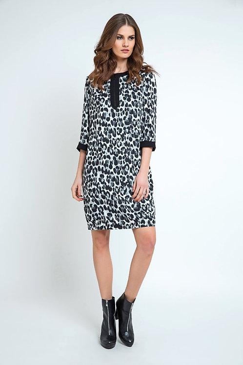 Animal Print Sack Dress