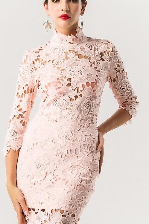 Pink Cut Out Dress