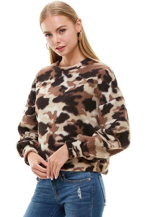Camouflage Dolman Sleeve Sweatshirt