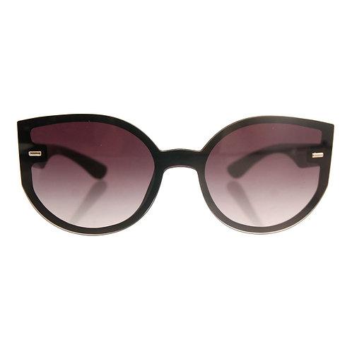 Black Frame Rimless Cat Eye Sunglasses