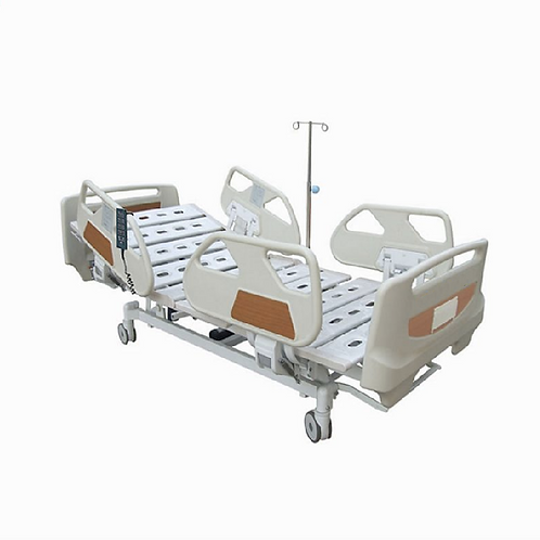 RM09- 5-Function Electric Hospital Bed, with handset controller & rail contro