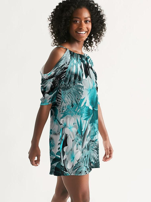Women's My Sundays Casual Open Shoulder A-Line Dress