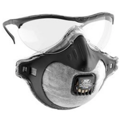 JSP - Odour Reducing FilterSpec Combination Respiratory Mask & Safety Spectacles
