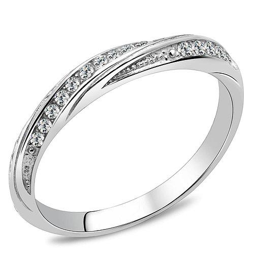 Women Stainless Steel Cubic Zirconia Rings TK3259