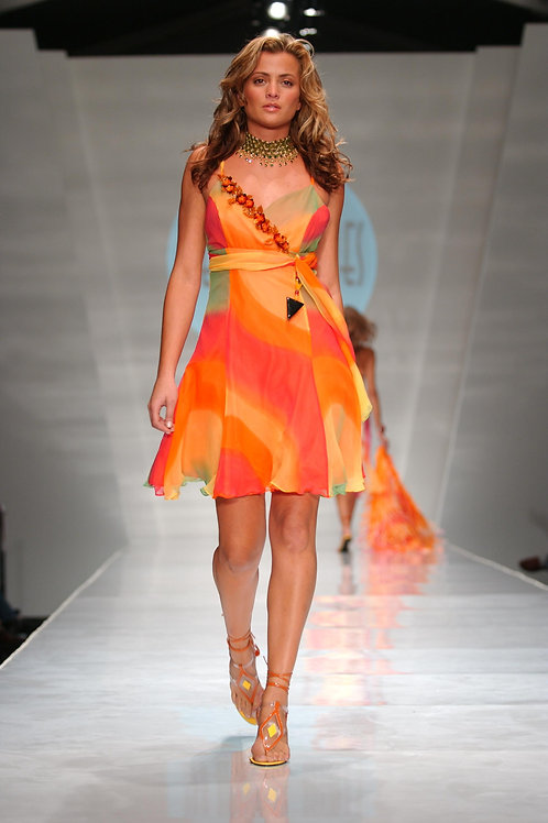 Heather Jones Sunset Mini Dress