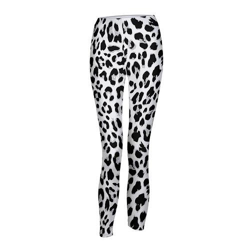 Animal Print Black White Women's Yoga Pant