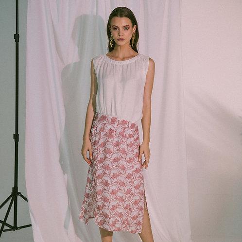 Agape Midi Dress in Canyon Rose