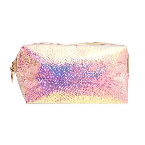 Pink Hologram Costmetic Bag
